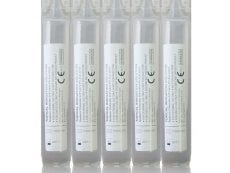 5 eye wash pods each containing 20 ml of solution.