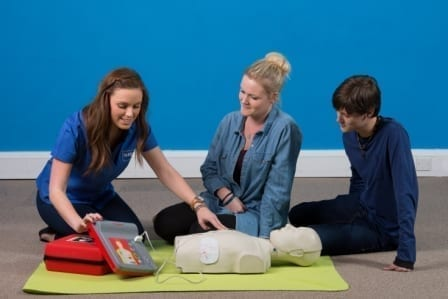 Essential basic Life Support and AED training course form SkillBase First Aid