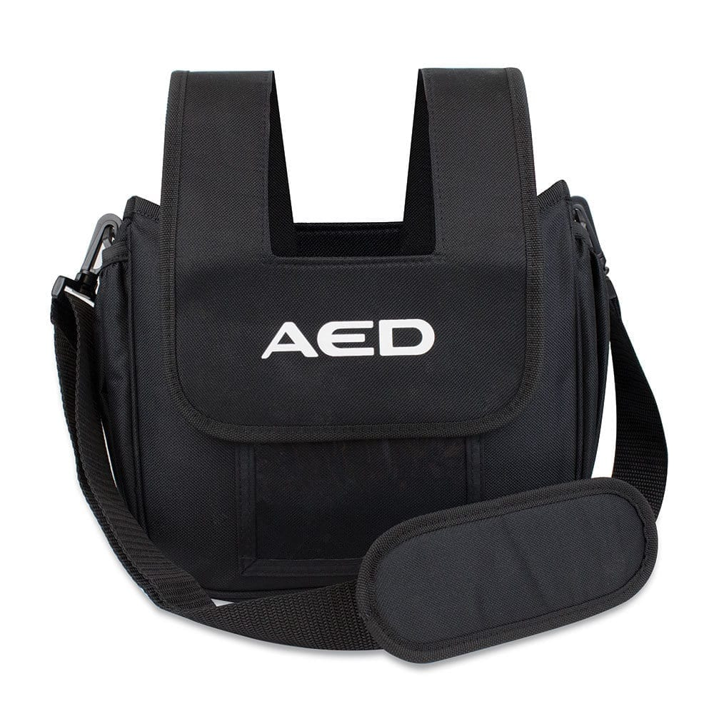A bag made by mediana designed to carry an AED